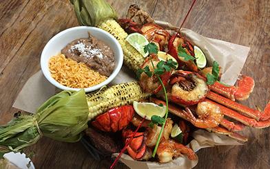Baja Seafood Buckets at Rockin Baja