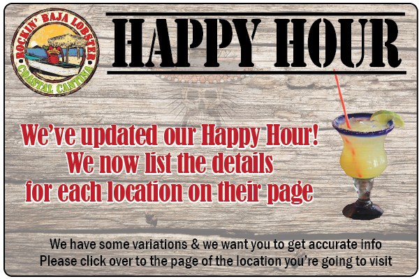 Happy Hour at Rockin' Baja Lobster