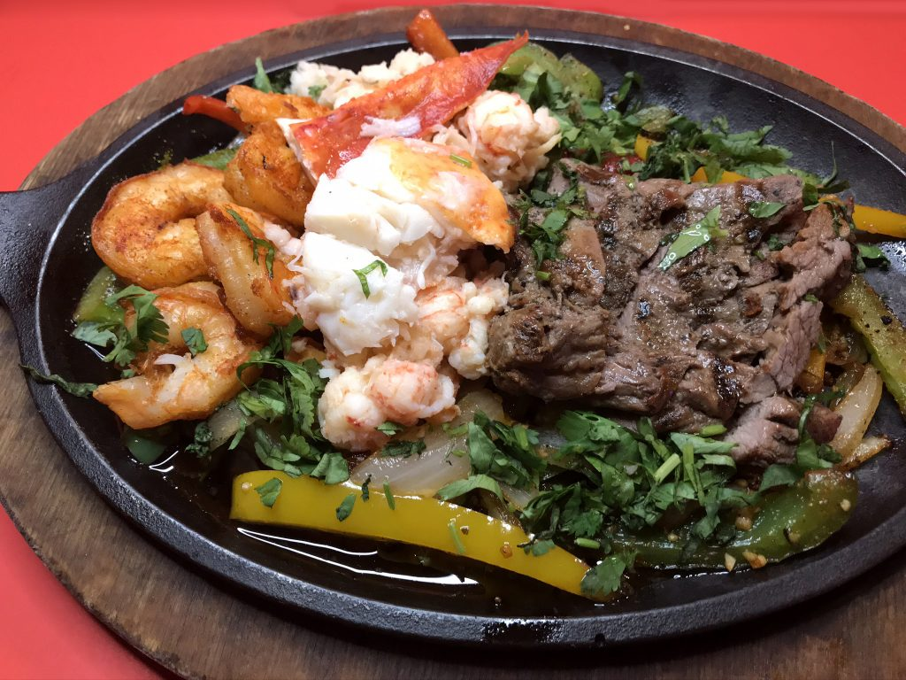 Fajitas with Lobster, Shrimp & Steak