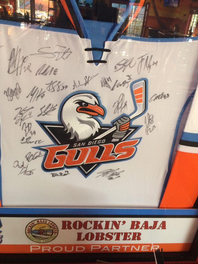 Gulls Hockey Sweater at Rockin' Baja Lobster